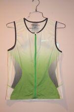 Craft Elite Tri Sleeveless Full Zip Top Men's Size Xl White/Green New