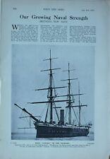 1914 WW1 ARTICLE & PICS BRITAINS NAVY HMS CANADA HMS ERIN DREADNOUGHT RESHADIEH