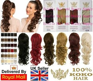 """KOKO MOLLY 22"""" PONYTAIL DRAW STRING WAVEY UPDO VARIOUS COLOURS"""