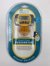 Sportline Fitness Walking Step and Distance Count Down Pedometer New In Package