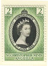 ST CHRISTOPHER NEVIS ANGUILLA 1953 CORONATION BLOCK OF 4 MNH