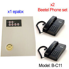 Small EPABX PABX Intercom system telephone 104 - With x2 Beetel Phone Set