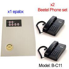 Small EPABX PABX Intercom system telephone 104 - With x2 Beetel Phone Set