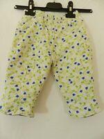 pantalon épais vert bleu  taille 6 mois tres bon état (C1654)