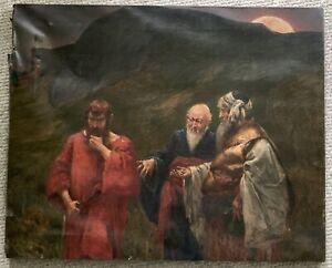 Hermann Prell oil painting sketch? Judas Iscariot 1887 German Museum provenance
