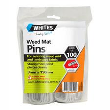 Weed Mat Pins Pegs Pack 100 150mm x 3mm U Shape