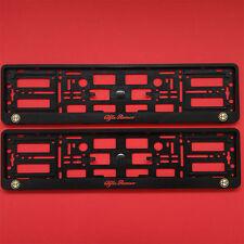 NEUF 2 X Alfa Romeo noir numéro plaque entoure titulaire cadre pour les voitures