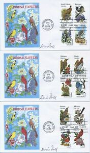 #1953-2002 State Birds & Flowers set of 13 Doris Gold cachet First Day covers