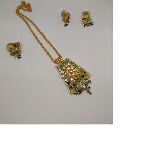 Asian Jewelry Necklace Earrings ring Set wedding Uk seller