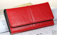 Women's Real Leather Wallet Clutch Purse Credit Card Holder Lady's Party Handbag