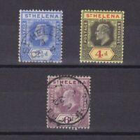 ST. HELENA 1908, SG# 64-70, CV £23, part set, MH/Used