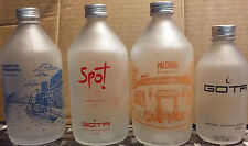 LOT 4 BOTTLES GLASS MINERAL WATER GOTA FROM ARGENTINA