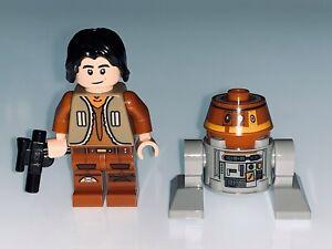 LEGO STAR WARS EZRA BRIDGER AND CHOPPER DROID FROM 75158 - NEW