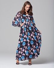 Wolf & Whistle Floral Printed Chiffon Maxi Dress RRP £70