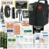 Disaster Emergency Survival 250 Piece Kit, Bug Out Bag, Camping & Apocalypse