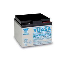 NPC24-12 Yuasa 12v 24Ah Valve Regulated Lead Acid Rechargeable battery