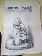 Vintage Print,CANT CHANGE THE ANIMALS,Harpers,Nast,1882