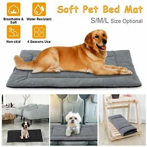 Dog Bed Mat Pet Dog Crate Carpet Reversible Pad Cushion Summer Breathable Carpet