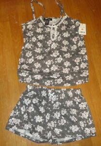 New Rene Rofe Women's Floral Print 2-Piece Cami Short Pajama Set~~SIZE SMALL