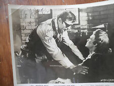 """Western Actor George Montgomery Signed Movie Lobby Photo From """"Black Patch"""""""