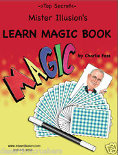 Magic Trick Book Top Secret MISTER ILLUSION Spiral bound, by Charlie Fass
