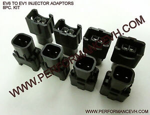 EV6 To EV1 LS2/LS3 to LS1 Ford Dodge Injector Fuel Injector Adapters 8pc.