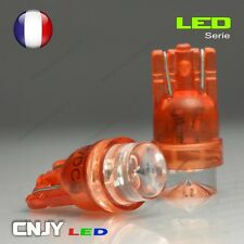 2 AMPOULES LED T8 CONCAVE CULOT W5W 194 501 ROUGE XENON 150° 12V VEILLEUSE