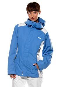Women's Oakley Shape Scape Ski Snowboard Winter Snow Jacket Crystal Blue Size XS