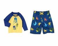 nwts sz 4 Gymboree Boys Bright and Beachy Tropical Swim Trunks Swimwear Swim