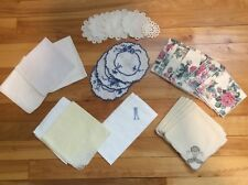 Lot Of 30 Pieces Vintage Table Linens Napkins Serviettes Coasters Doilies
