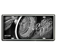 DGA David Gonzales Art Rollin Deep Lowrider Tin Metal License Plate 12 x 6
