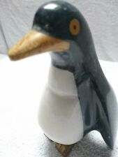 """Decorative Penguins made of Marble/Onyx 6"""" Very Characterful Piece"""