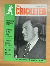 21 MAY 1965 THE CRICKETER MAGAZINE - D J INSOLE (CHAIRMAN OF SELECTORS) COVER