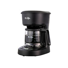 Mr. Coffee 5-Cup Programmable Coffee Maker 25 oz. Mini Brew Now or Later, Black