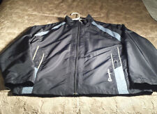 Champion Large Navy Blue Athletic Jacket with Removable Black Liner EUC!