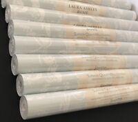 New Laura Ashley Josette Duck Egg Blue Wallpaper Price Per Roll