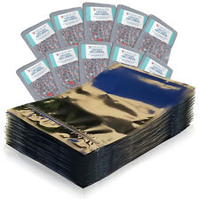 (100) 1 Quart Ziplock Mylar Foil Bags + (100) 300cc Oxygen Absorbers
