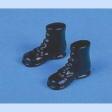 Par De Botas Negras, Casa De Muñecas Miniaturas, Zapatos, 1.12 Escala