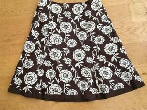 BODEN Cotton Print Lined Skirt   Size 14R