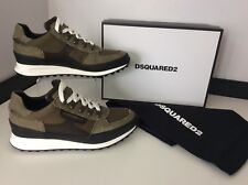 Dsquared2 Ds2 SNEAKERS Runners UK 9 Eu43 Military Khaki Green Canvas