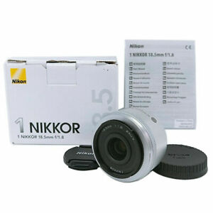 【 Mint w/ Box 】Nikon single focus lens 1 NIKKOR 18.5mm f /1.8 Silver From Japan