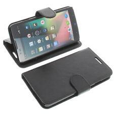 étui pour ZTE Blade L3 PLUS style Livre Etui Housse téléphone mobile Noir