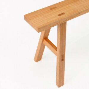 MUJI Solid wood bench Oak L W100×D30×H44cm Sitting surface W100×D14cm MoMA
