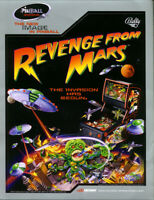 Revenge From Mars Pinball FLYER 2000 NOS Original Bally Game Artwork Version #2