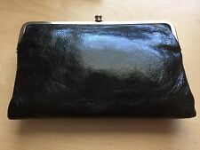 HOBO International Black Leather Leanne Cross-Body Messenger Bag DISCONTINUED