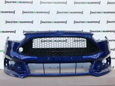 FORD FOCUS ST 2015-2018 FRONT BUMPER IN BLUE WITH GRILL GENUINE [F374]