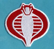 "GI Joe Stormshadow Small 3"" [inch], Fully Embroidered Red & White Cobra Patch"