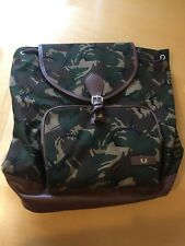 FRED PERRY Classic Backpack L6208 Canvas Rucksack Camo Shoulder Bag BNWT