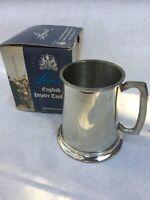 VTG Leonard Eales of Sheffield English Pewter/Tankard/Beer/Stein/Mug Glass Botto