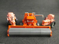 Lot 3 Disney Pixar Cars FRANK THE COMBINE HARVESTER & 2 TRACTORS Diecast 1/55